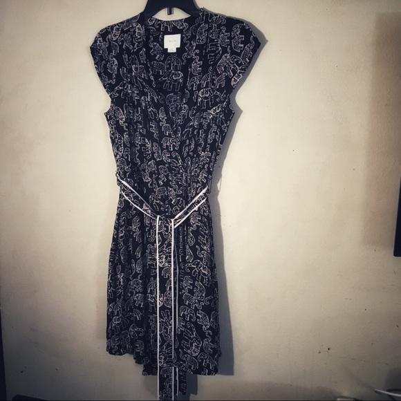 Anthropologie Dresses & Skirts - Anthropologie - Maeve Black Elephant Print Dress